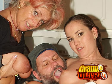 Granny Christina Having a Three-way