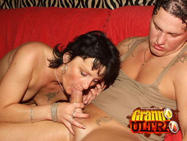Hot GILF Marsha Gives Blowjob