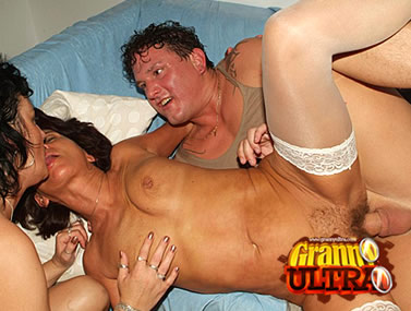 Hot Grannies in Stockings Banged