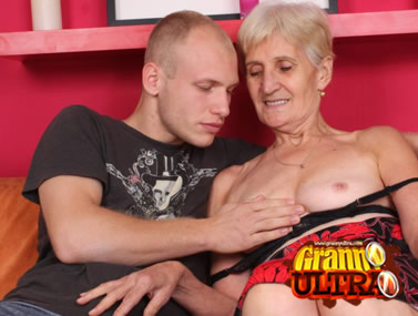 Granny Irene Flashes Her Tits